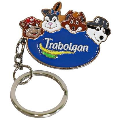 Key Ring - Trabolgan Logo 4 Character Heads